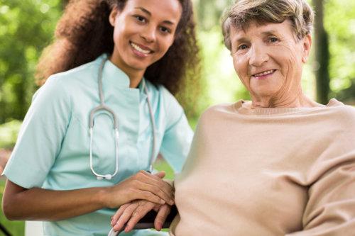 nurse with grandma
